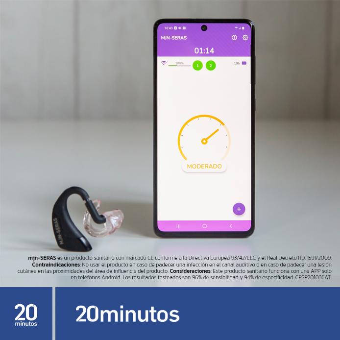 Un auricular alerta de una crisis de epilepsia de 1 a 3 minutos antes de que sucedan