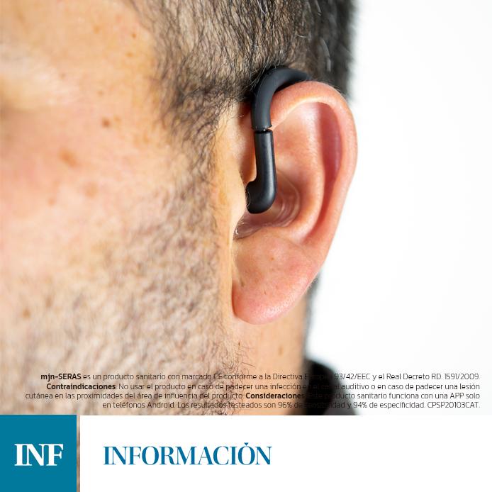Un auricular alerta de una crisis de epilepsia de 1 a 3 minutos antes de suceder